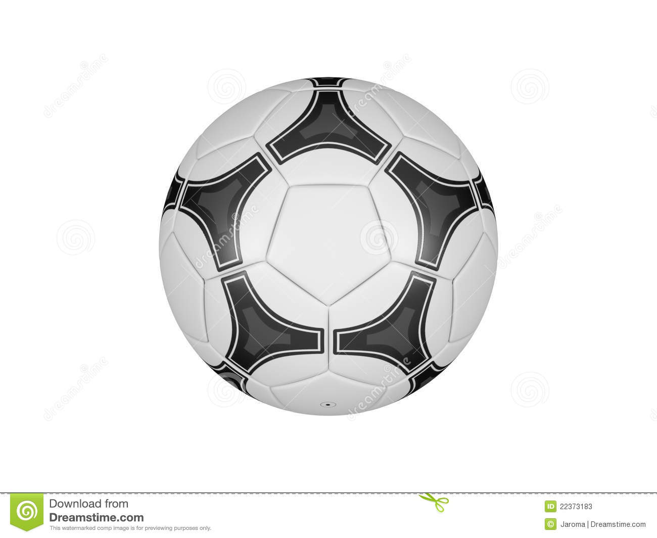 Soccer Ball Isolated On A White Background Stock