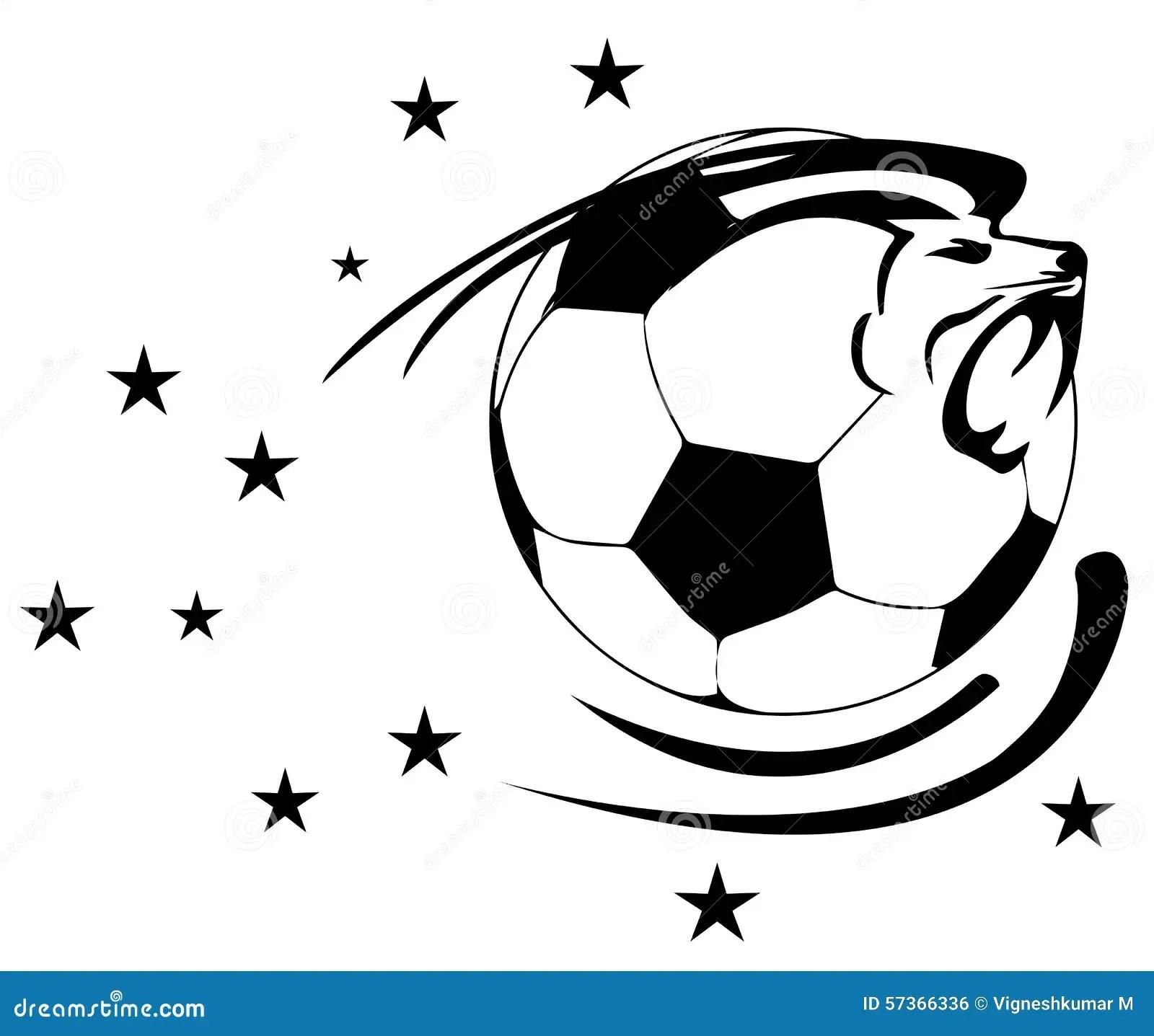 Soccer Ball With Lion Stock Illustration Illustration Of