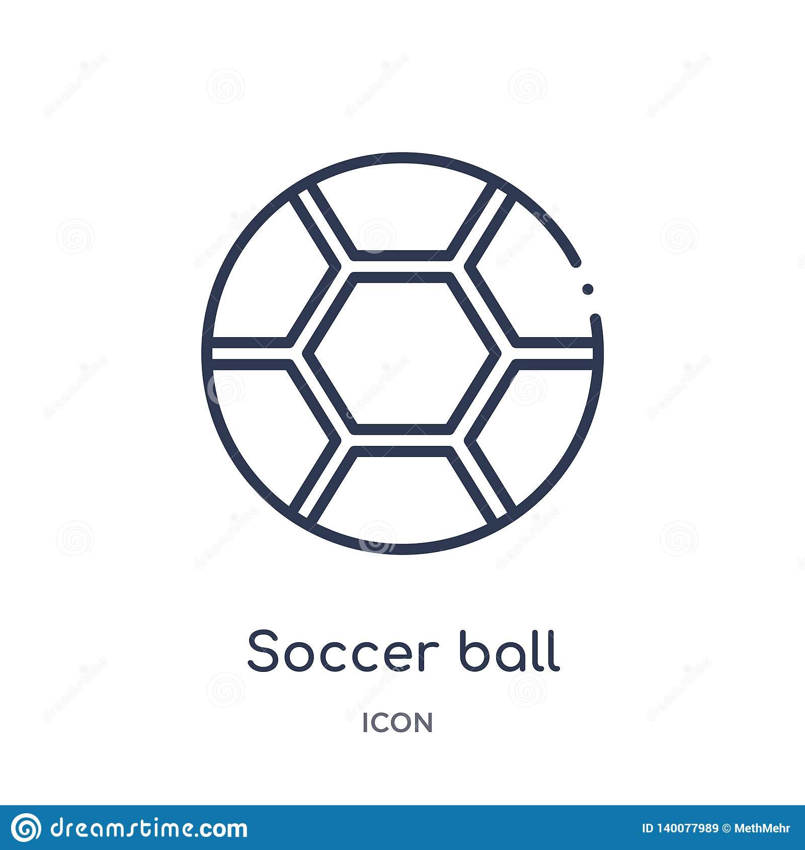 Soccer Ball With Pentagons Icon From Sports Outline