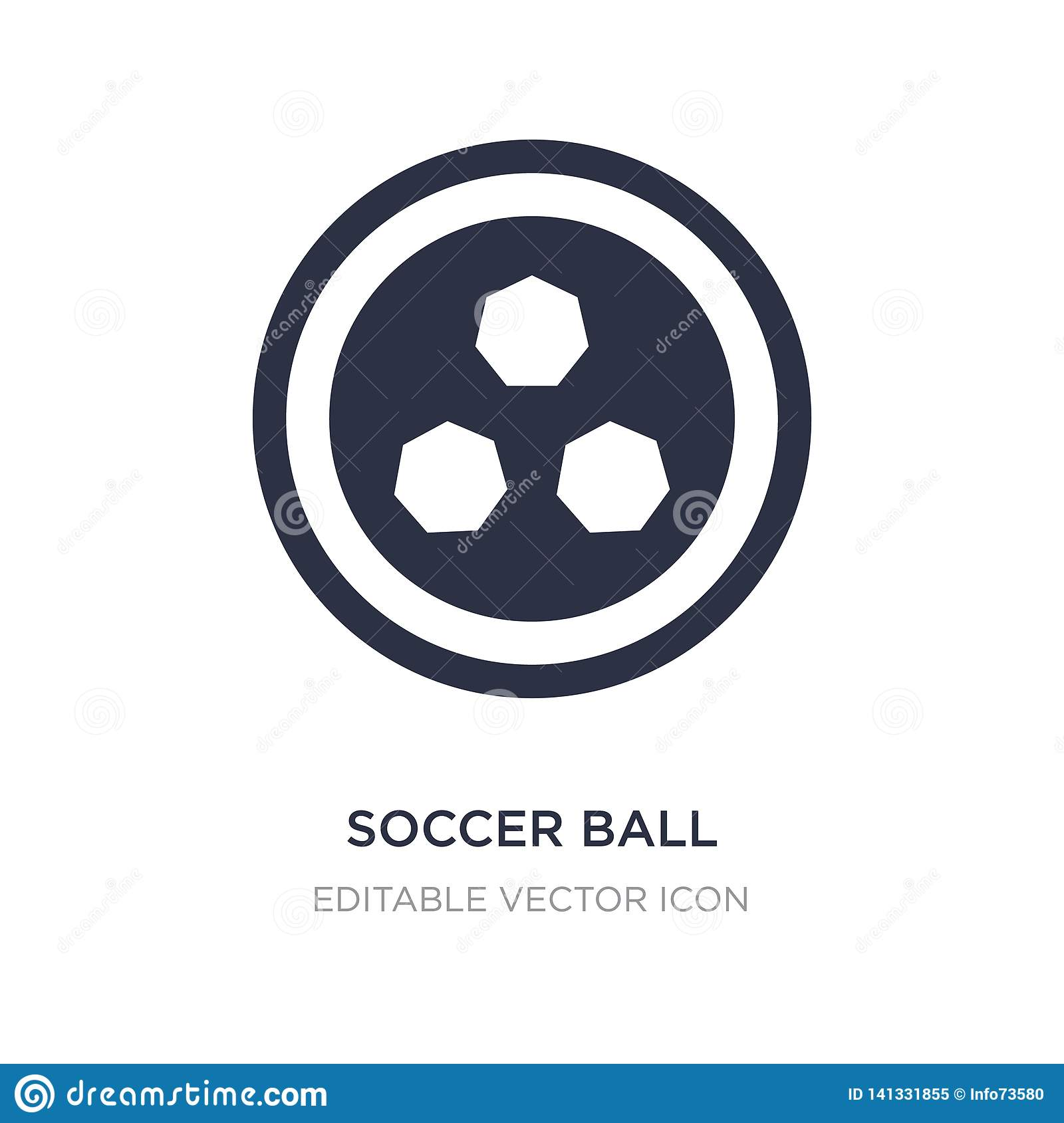 Soccer Ball With Pentagons Icon On White Background