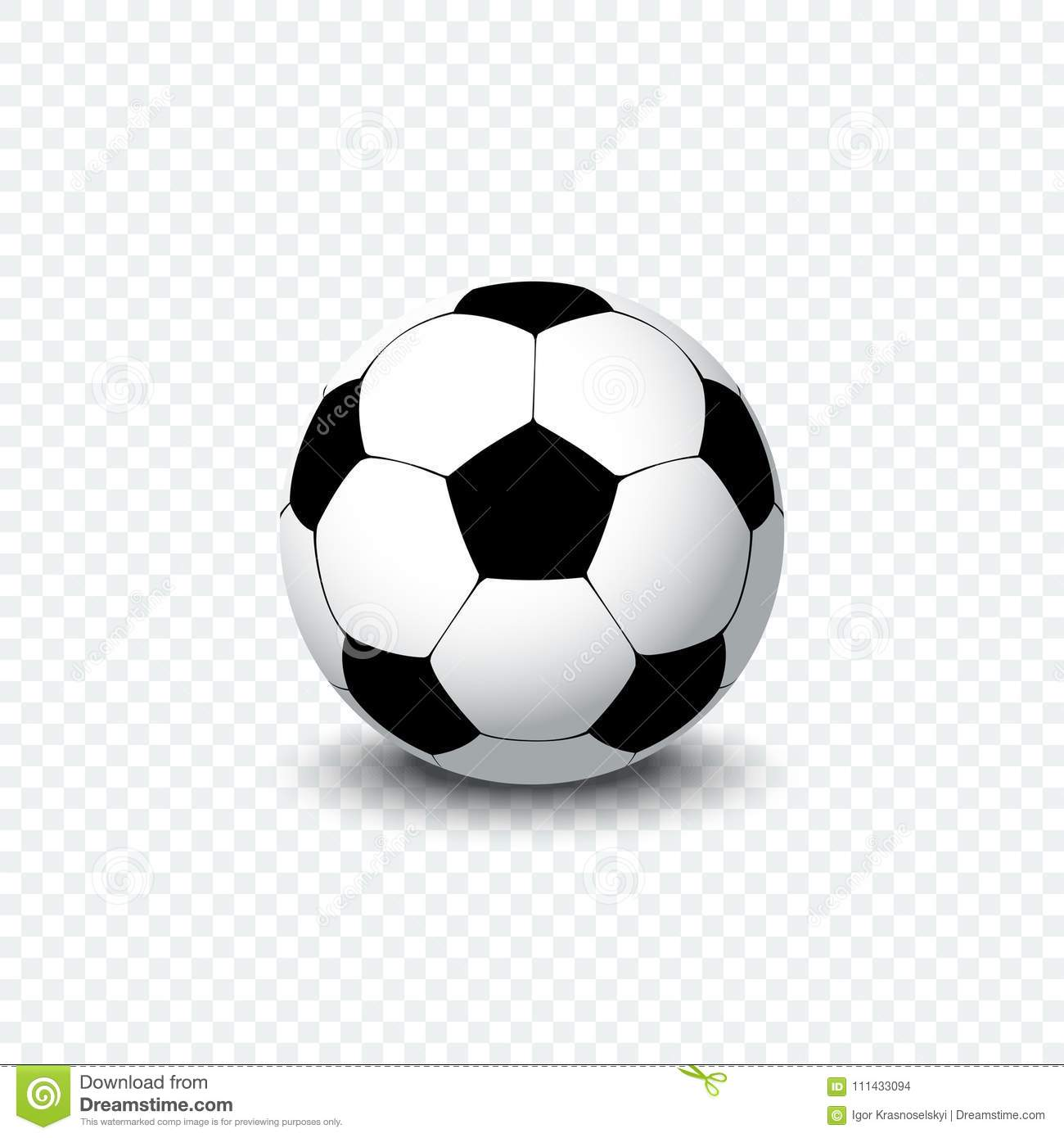 Soccer Ball Realistic Football Ball Or Soccer Ball With