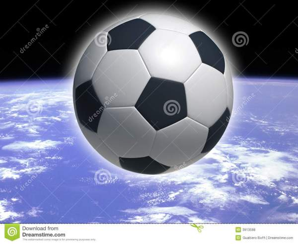 Soccer Ball In Space Royalty Free Stock