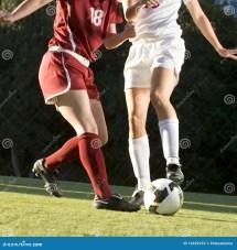 Soccer Feet & Ball Stock - 12629232