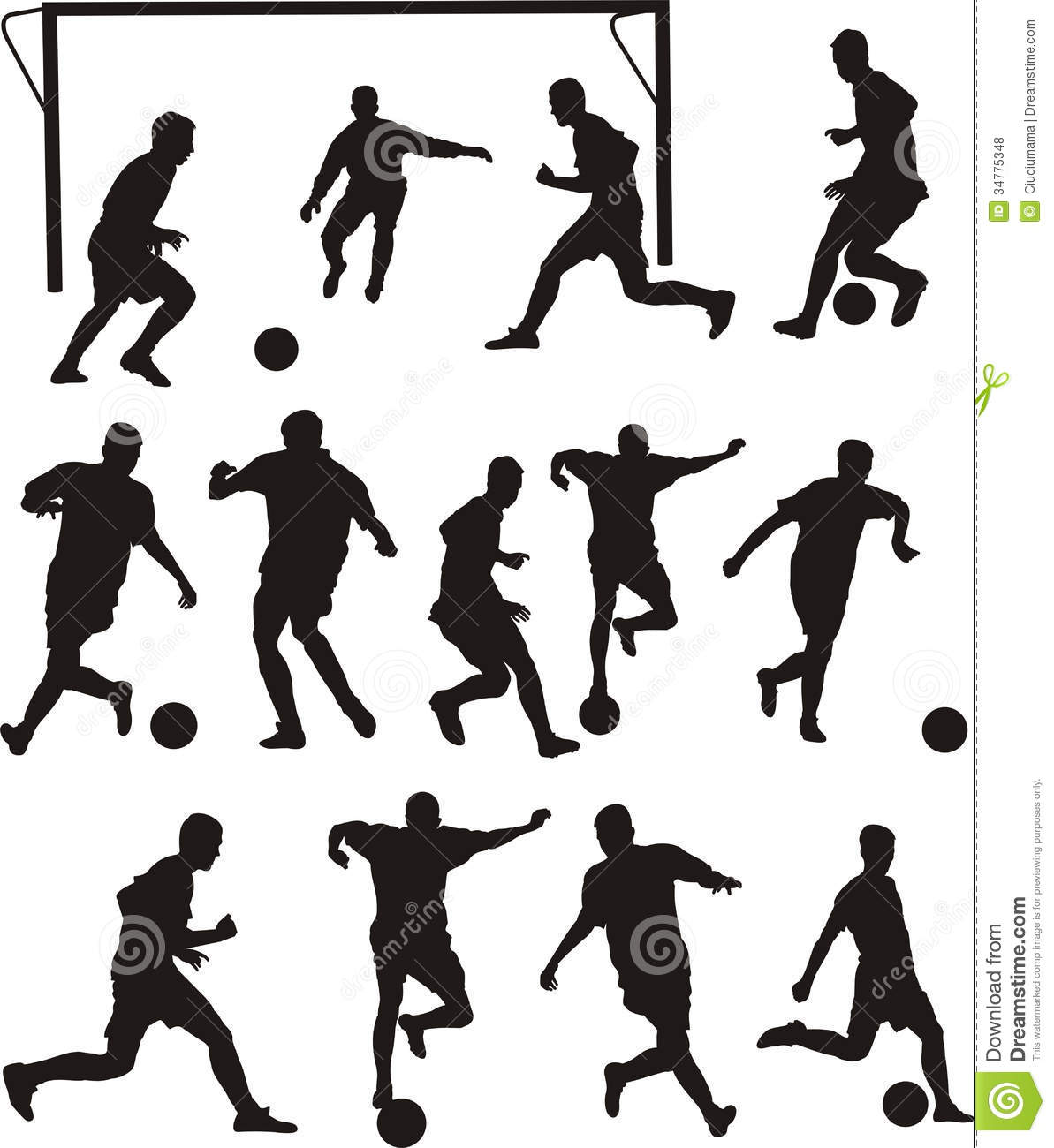 Soccer Or Football Icons Royalty Free Stock Photos