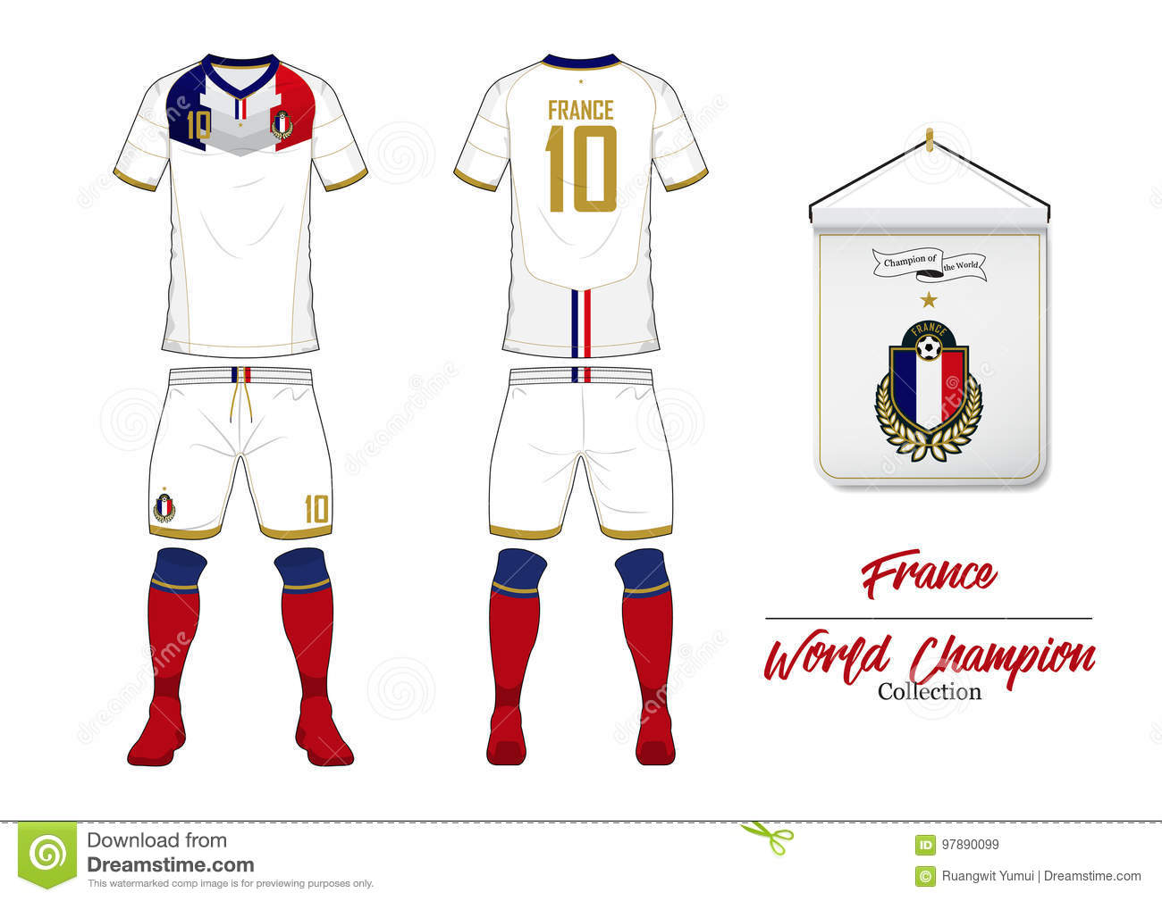 Football logo trivia, that is? Soccer Jersey Or Football Kit France Football National Team Football Logo With House Flag Front And Rear View Soccer Uniform Stock Vector Illustration Of Concept National 97890099