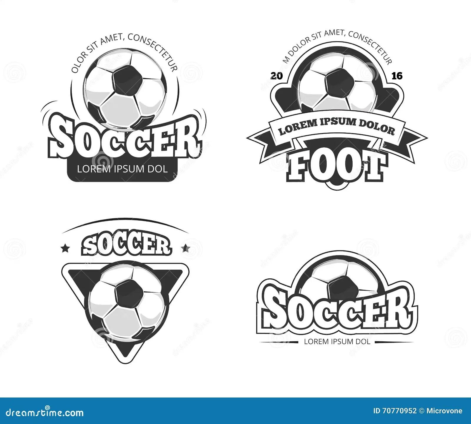 Soccer League Club Vector Badges, Labels Stock Vector