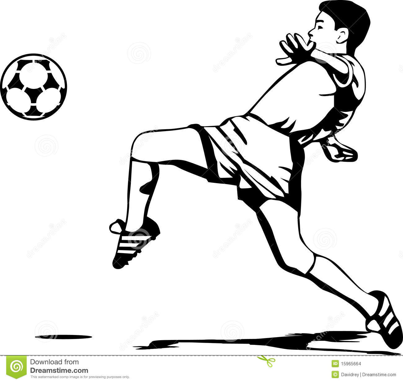 Soccer Player Stock Vector Illustration Of Clipart