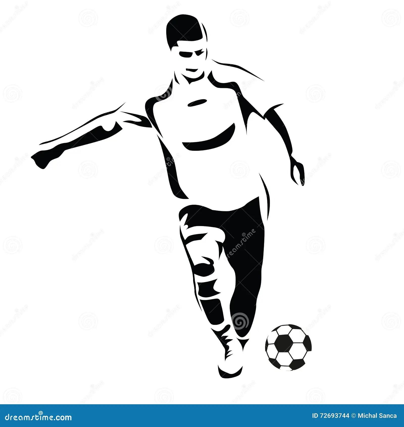 Vector Football (soccer) Player Silhouette Vector