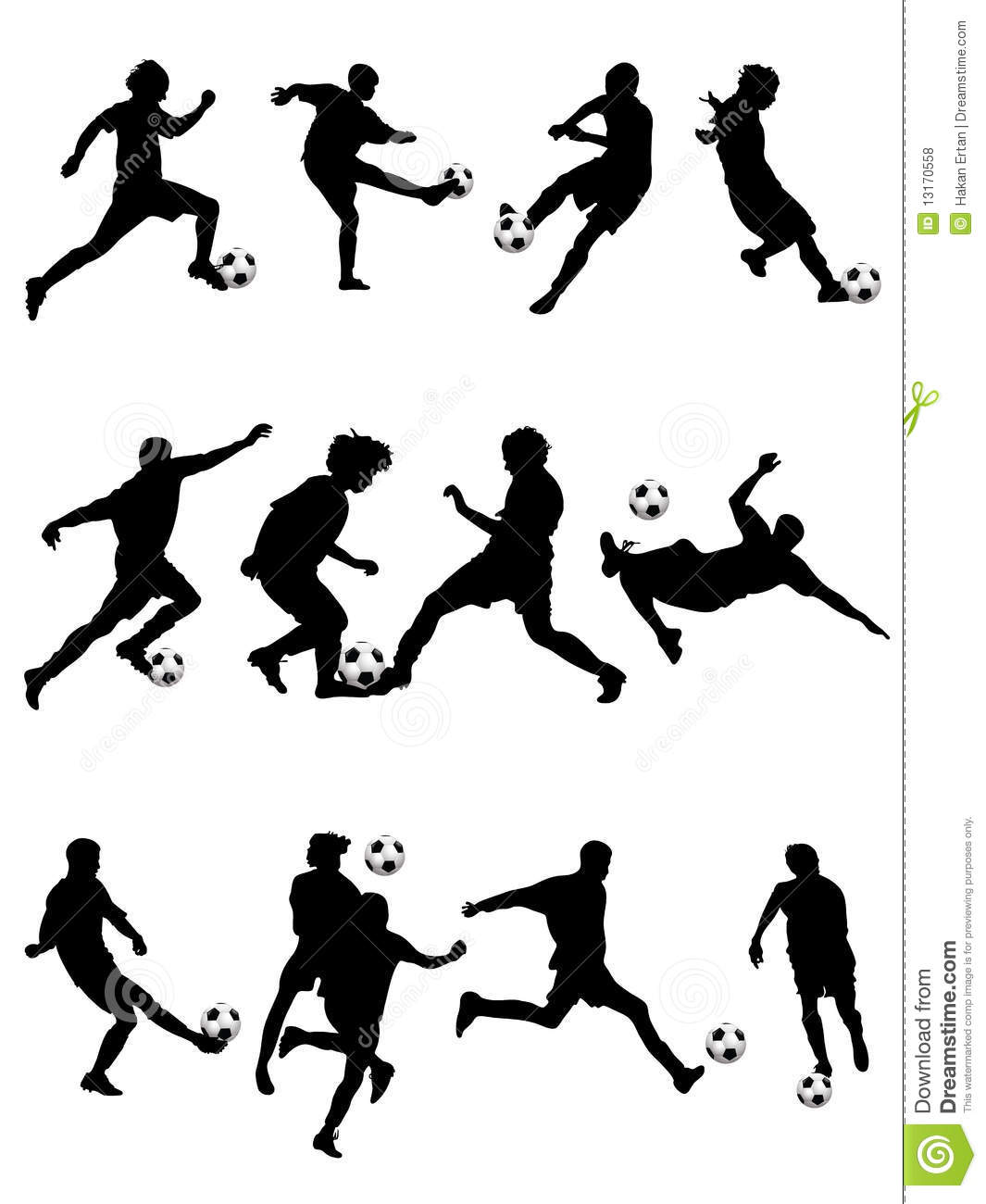 Soccer Silhouette stock vector. Image of athletics