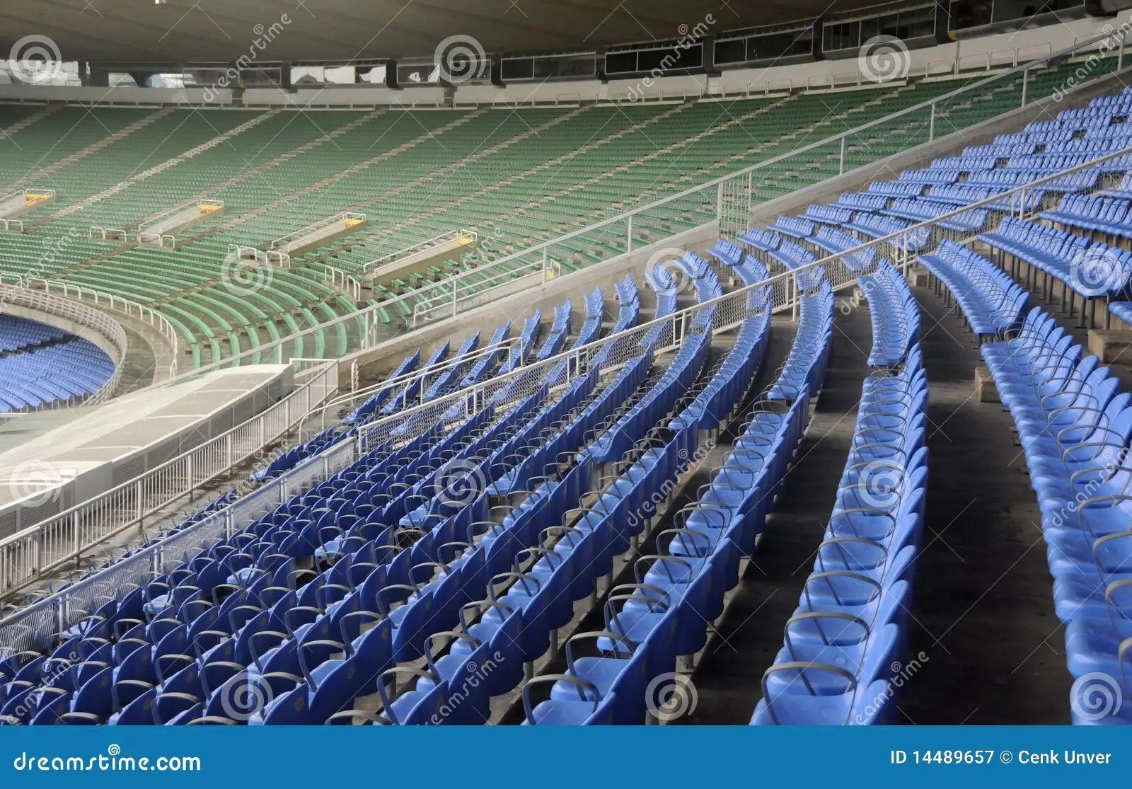 empty color stadium seats at maracana football stadium in rio de janeiro brazil editorial image