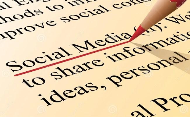 Social Media Definition Stock Vector Image 42269244