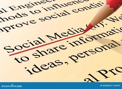 Social Media Definition Stock Vector - Image: 42269244