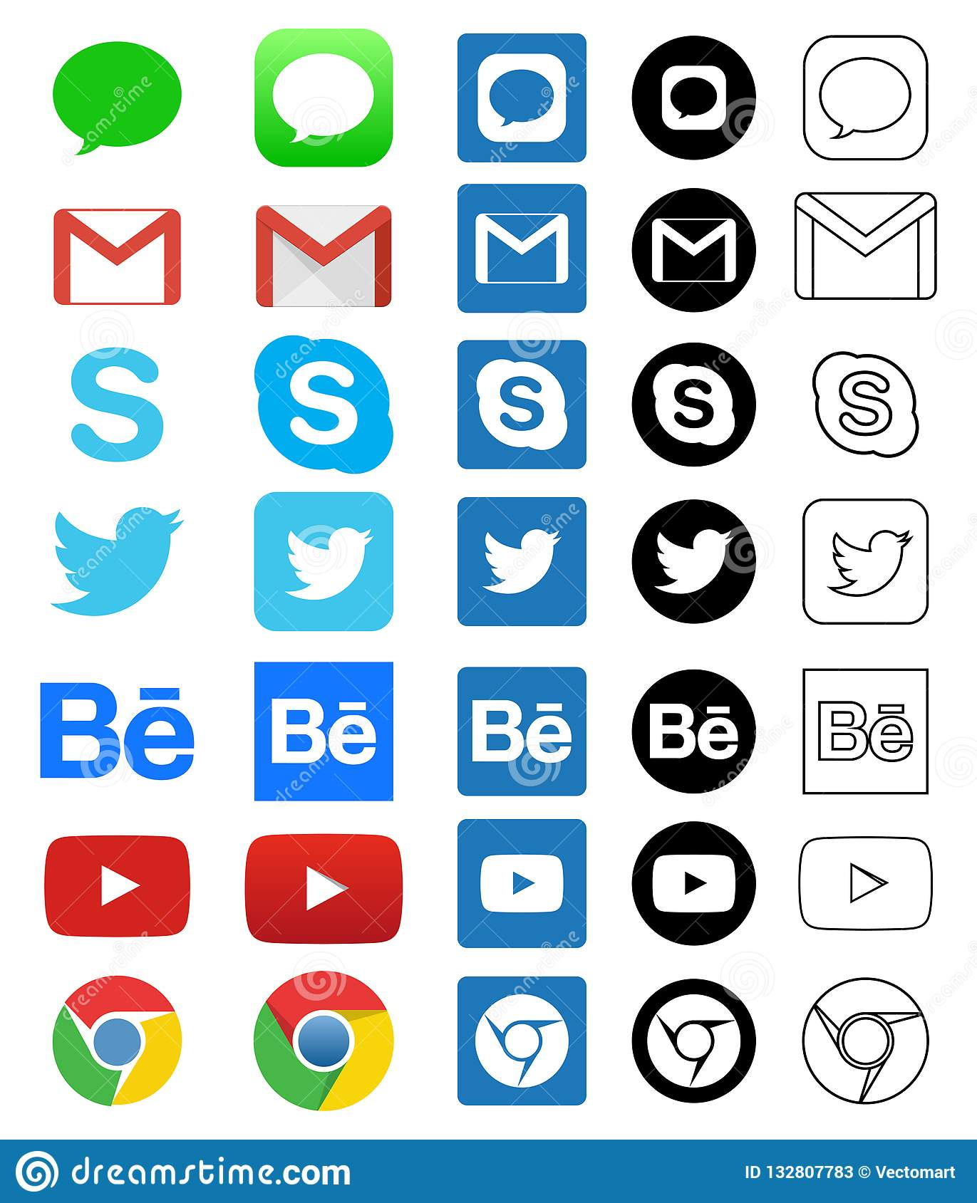 Facebook Twitter Instagram Icons : facebook, twitter, instagram, icons, Social, Media, Facebook, Twitter, Instagram, Stock, Illustrations, 1,593, Illustrations,, Vectors, Clipart, Dreamstime