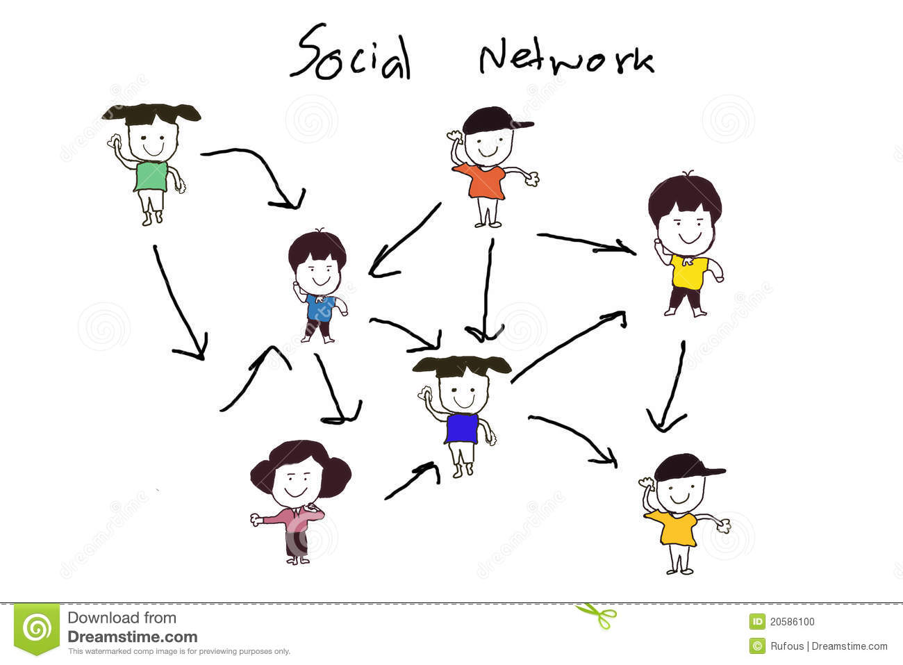 Social Network Structure Stock Illustration Illustration