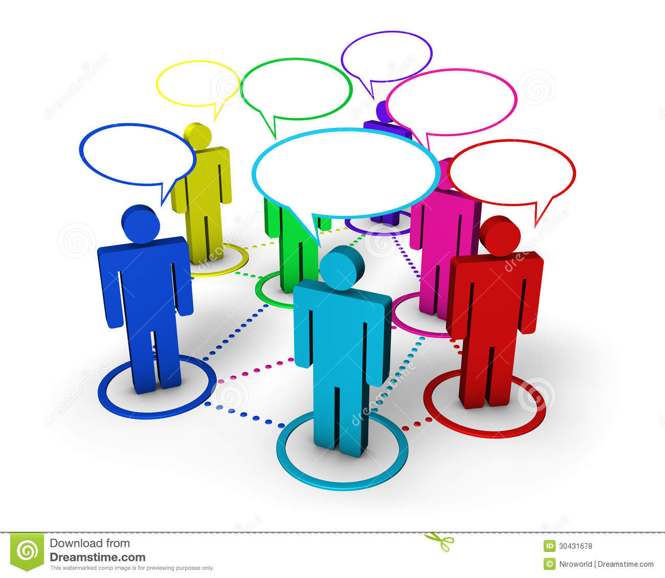Social Networking Internet Concept Royalty Free Stock