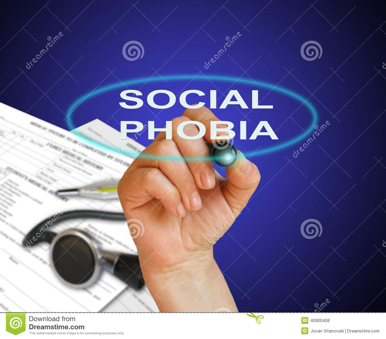 Social Phobia Stock Photo Image Of Vintage Psychiatry