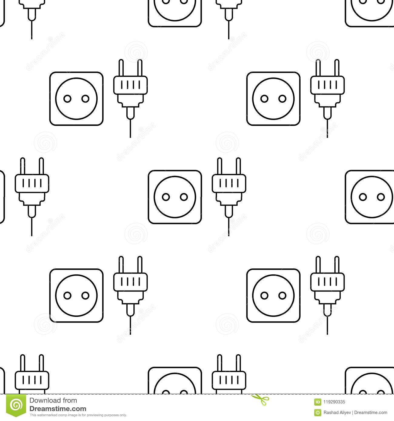 Socket And Plug Icon Element Of Appliances Icon For