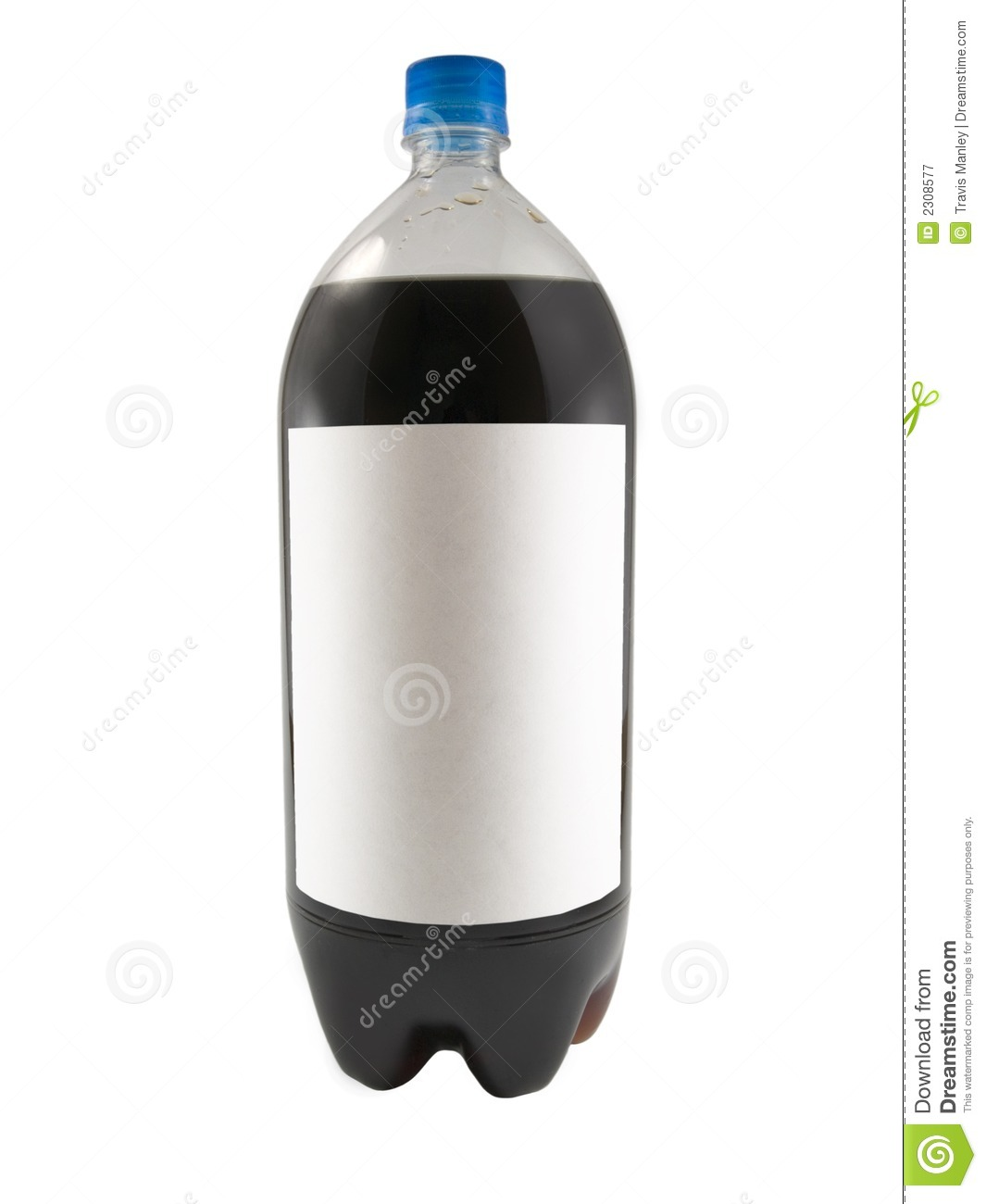 hight resolution of a close up on a soda bottle isolated on a white background with a blank label