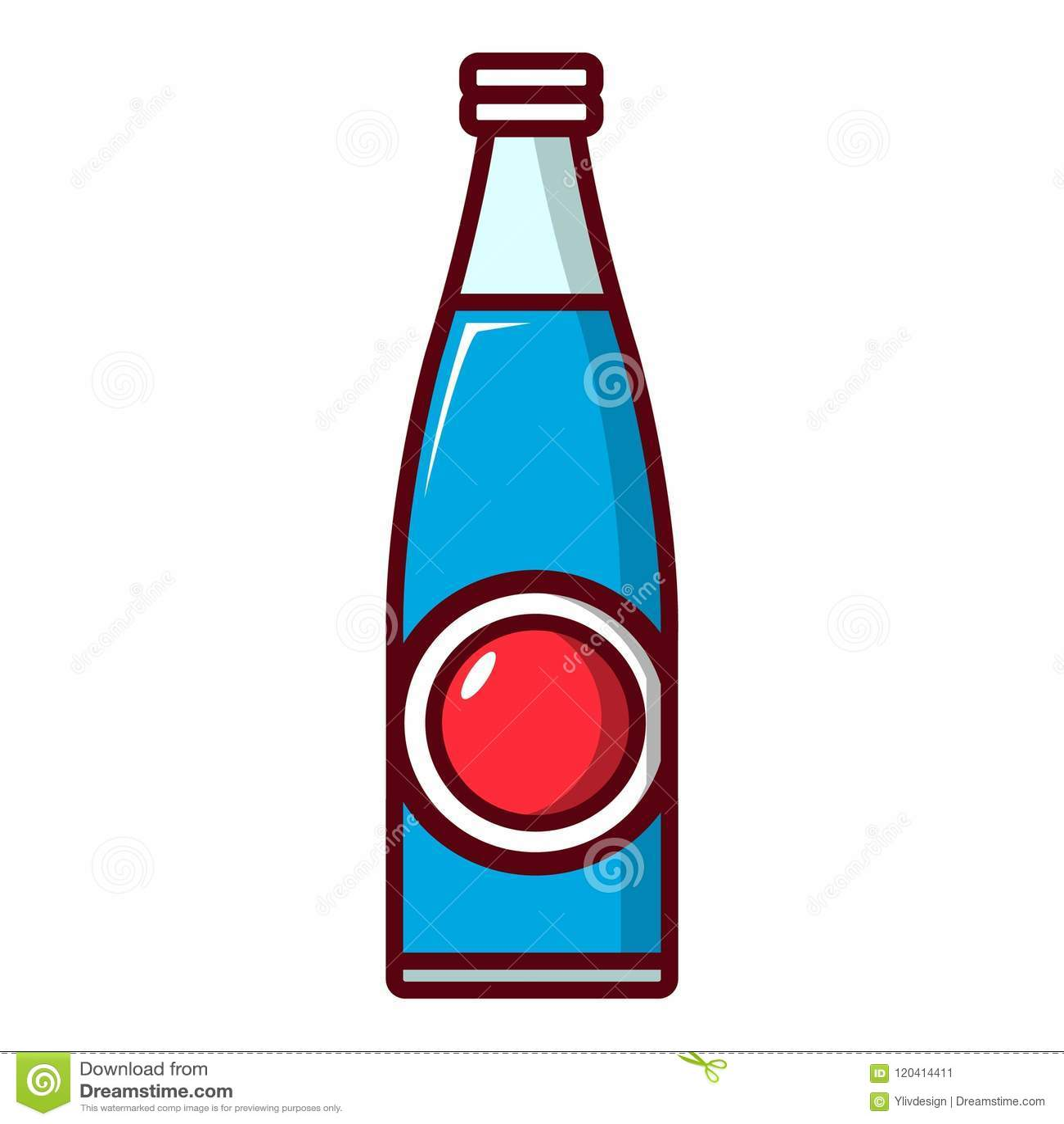hight resolution of soda bottle icon cartoon style