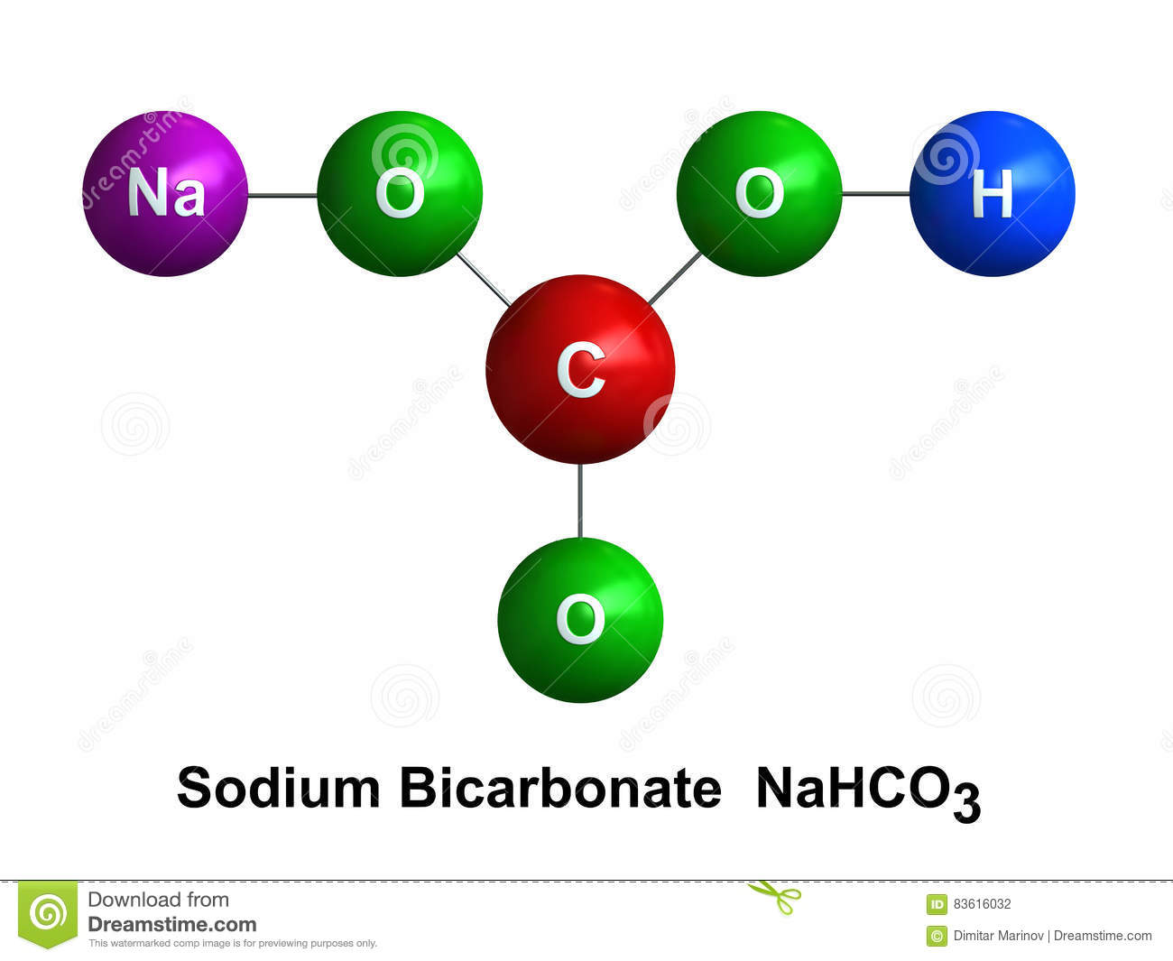 sodium atom diagram the parts of cherry blossom tree bicarbonate stock illustration