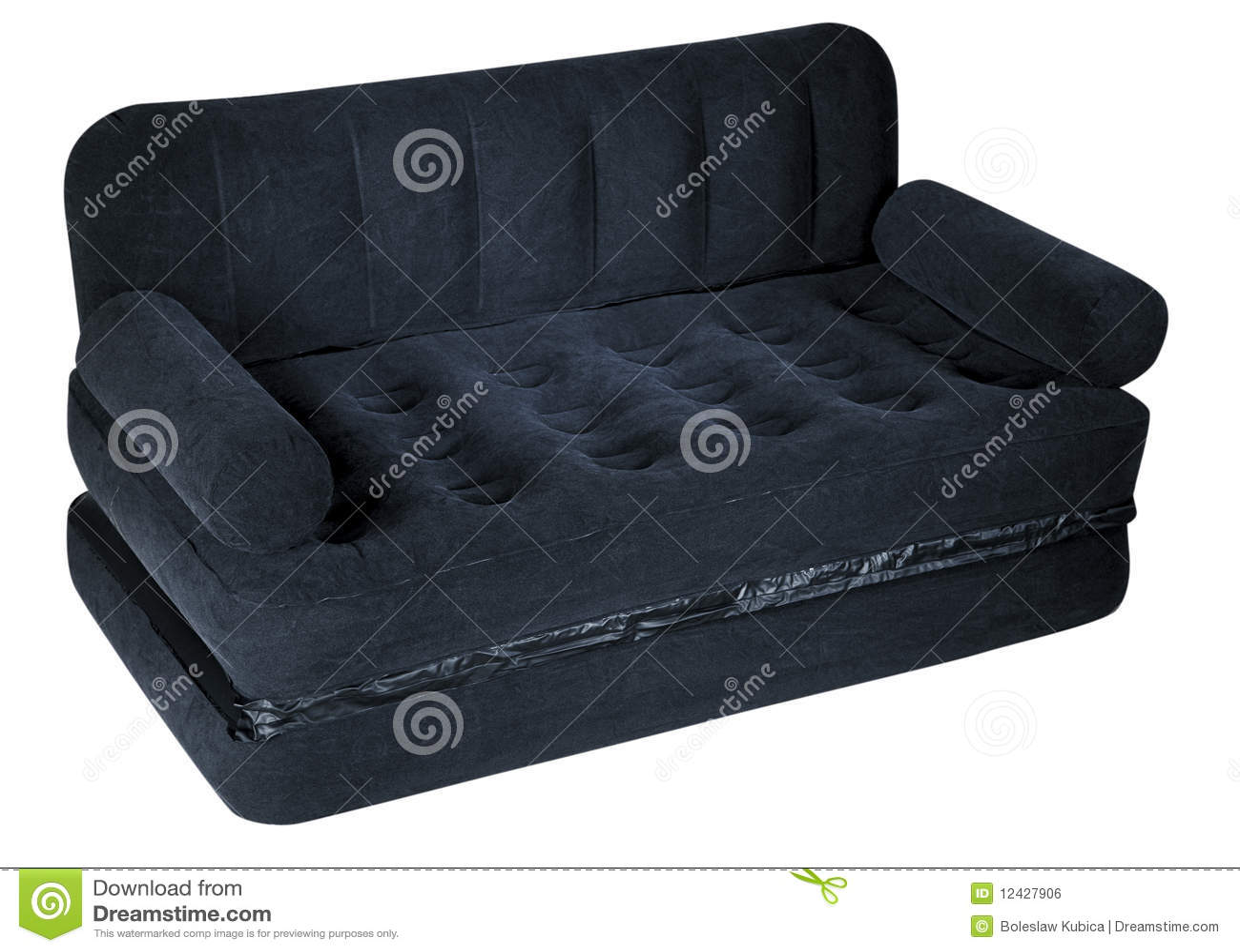 sofa e colchao osasco tosh furniture modern white and black leather sectional sofá colchão de ar imagem stock royalty free
