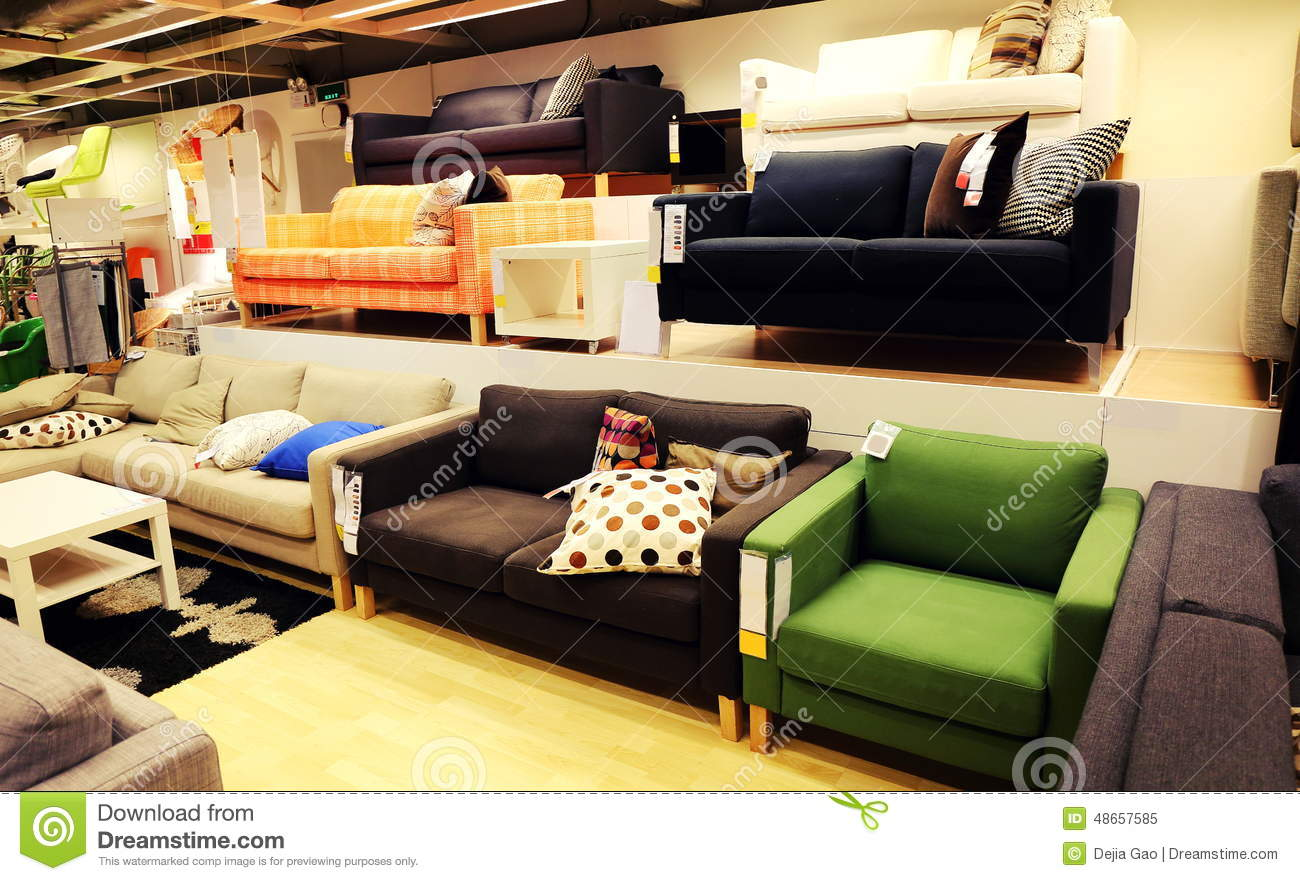sofa furniture store parker sectional havertys modern retail shop stock photo image