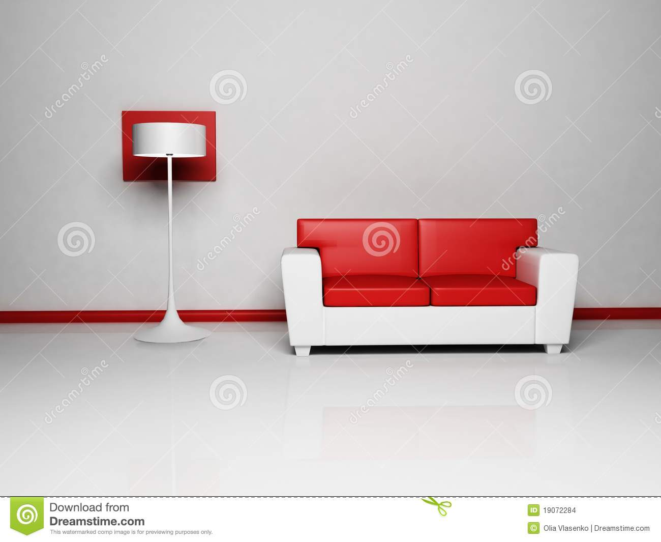 sofa floor lamp sectional sleeper crate and barrel royalty free illustration