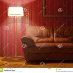 Sofa Floor Lamp Bed London On And Stock Image 9046801