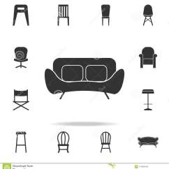 Chair Design Icons Covers For Chairs With Arms Sofa Icon Detailed Set Of Furniture Premium Quality Graphic One The Collection Websites Web Mobile App On White