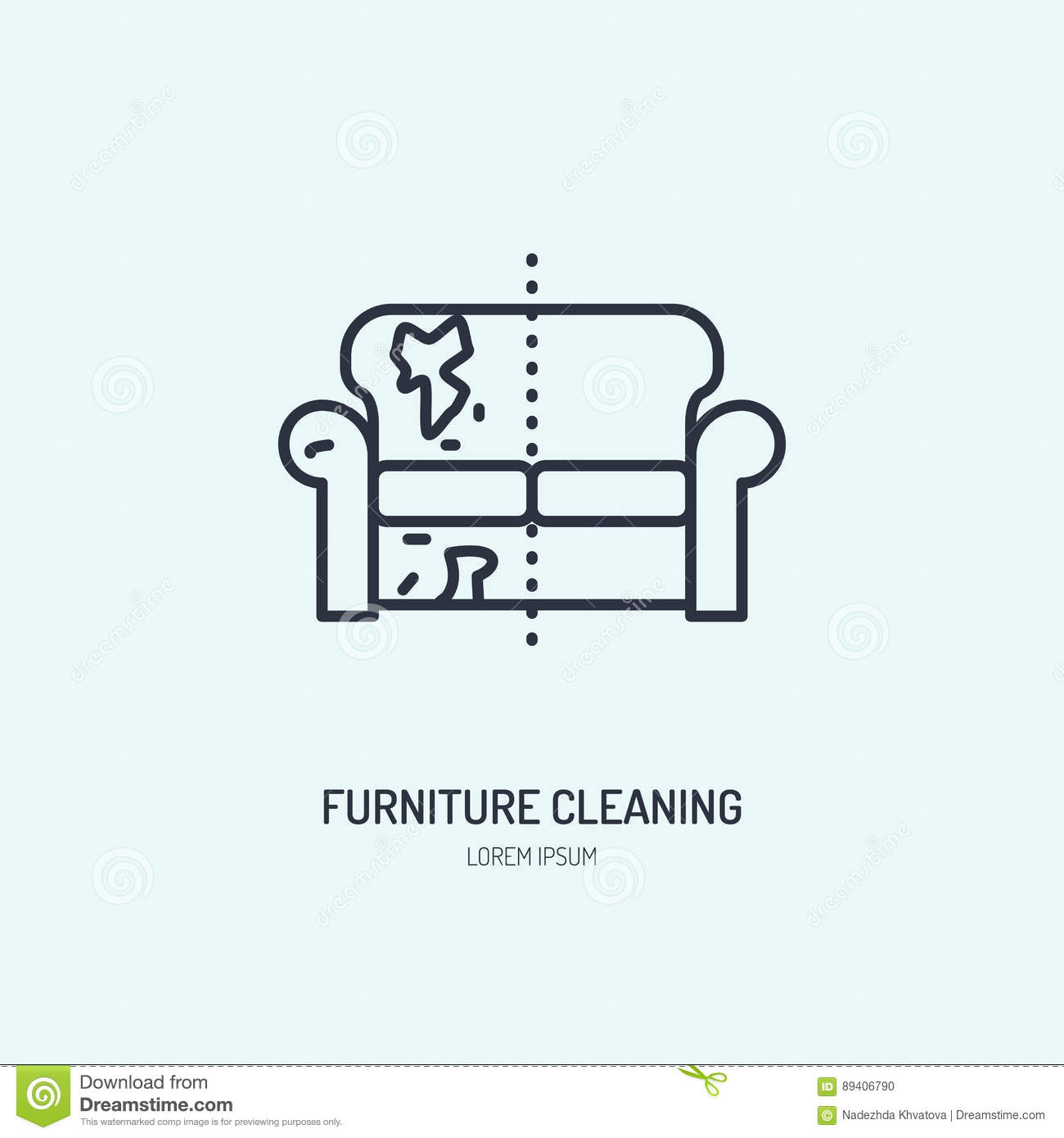 sofa dry cleaning cost mission sofas repair line icon upholstered furniture