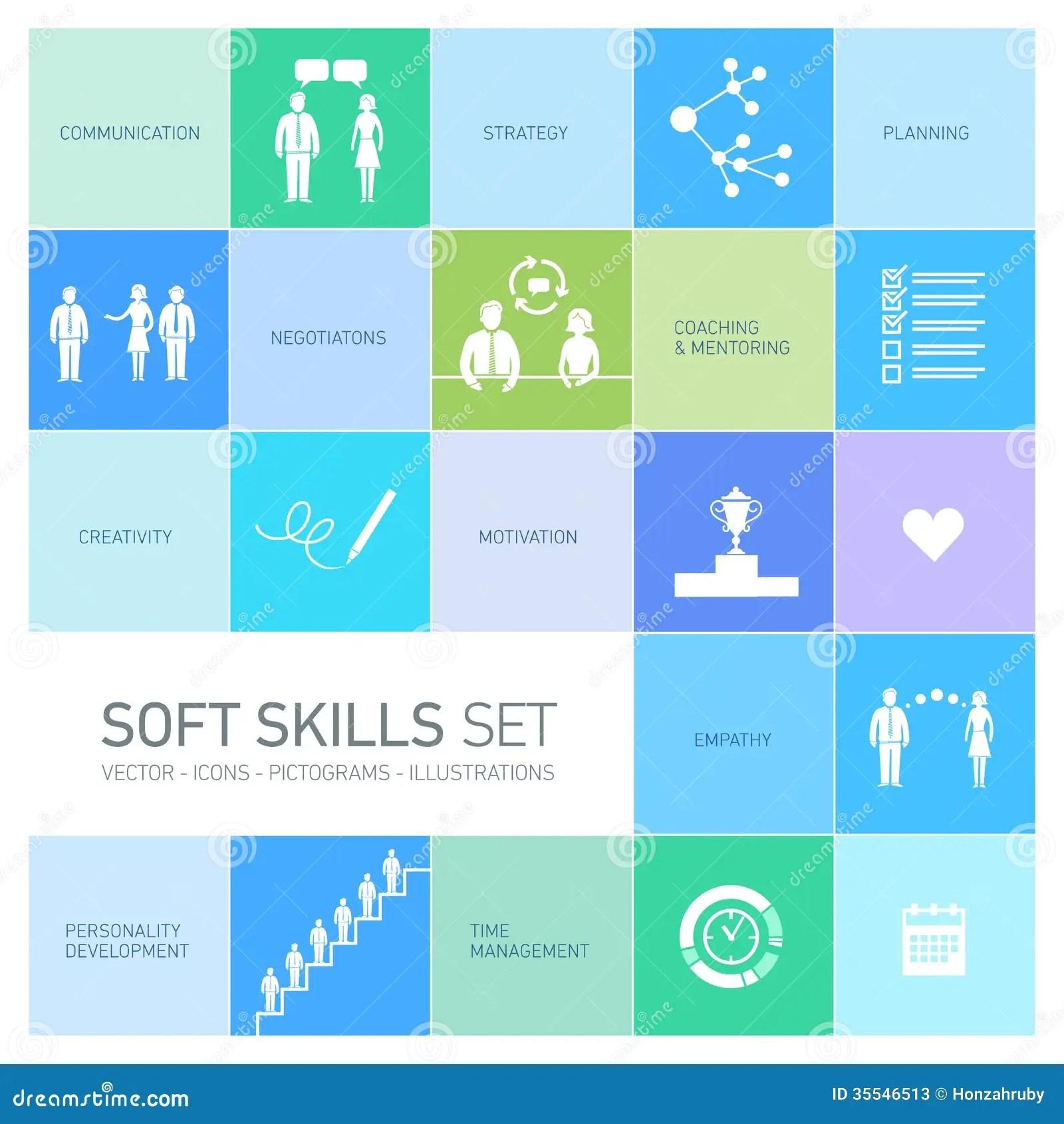 Soft Skills Icons Set Stock Photos Image 35546513