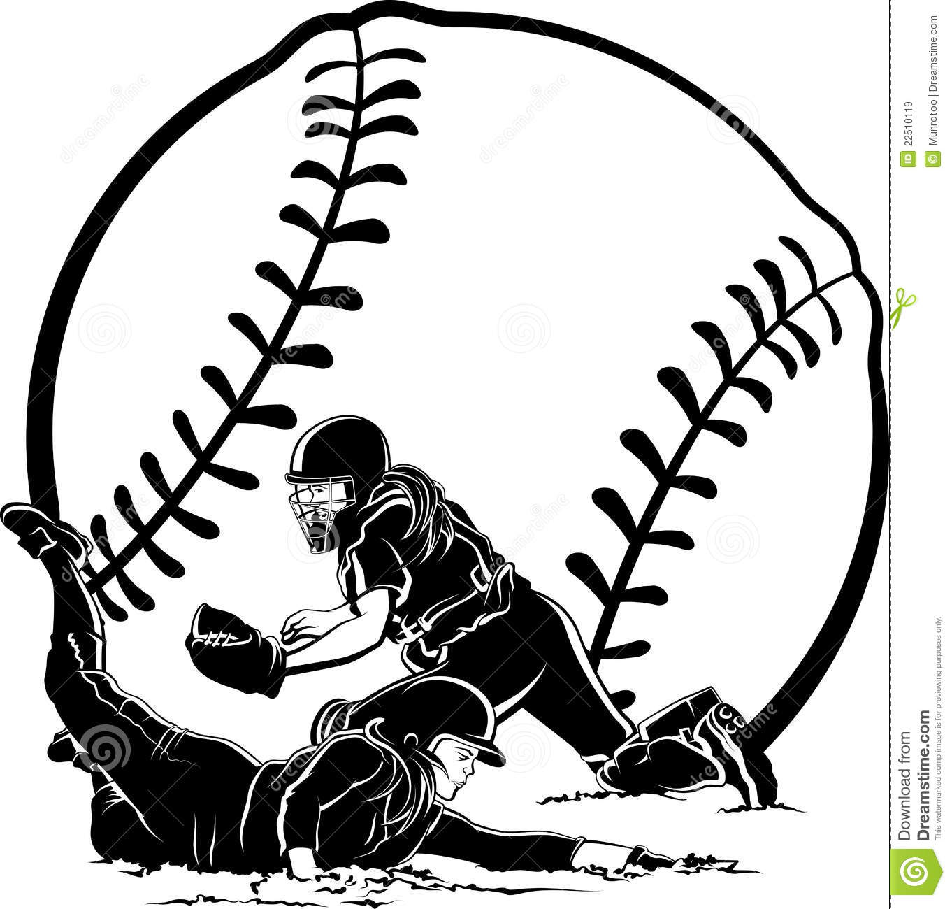 Softball Slide stock image. Image of sliding, cleats