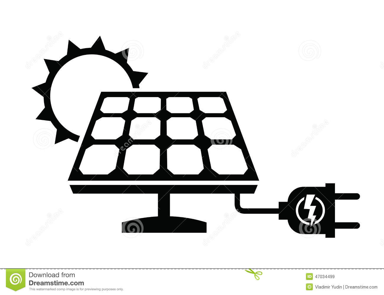 Solar Panel Icon Stock Vector Illustration Of Industry