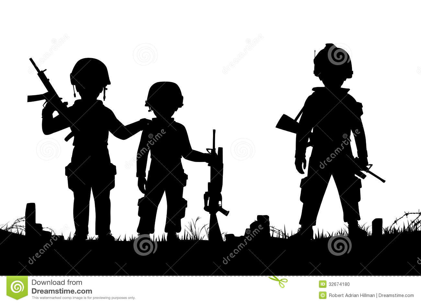 Soldados Da Crianca Foto De Stock