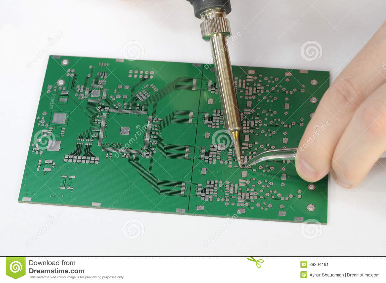 After Led Circuit Board Was Soldered