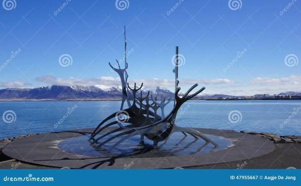 Solfar Sun Voyager Sculpter In Reykjavik Stock