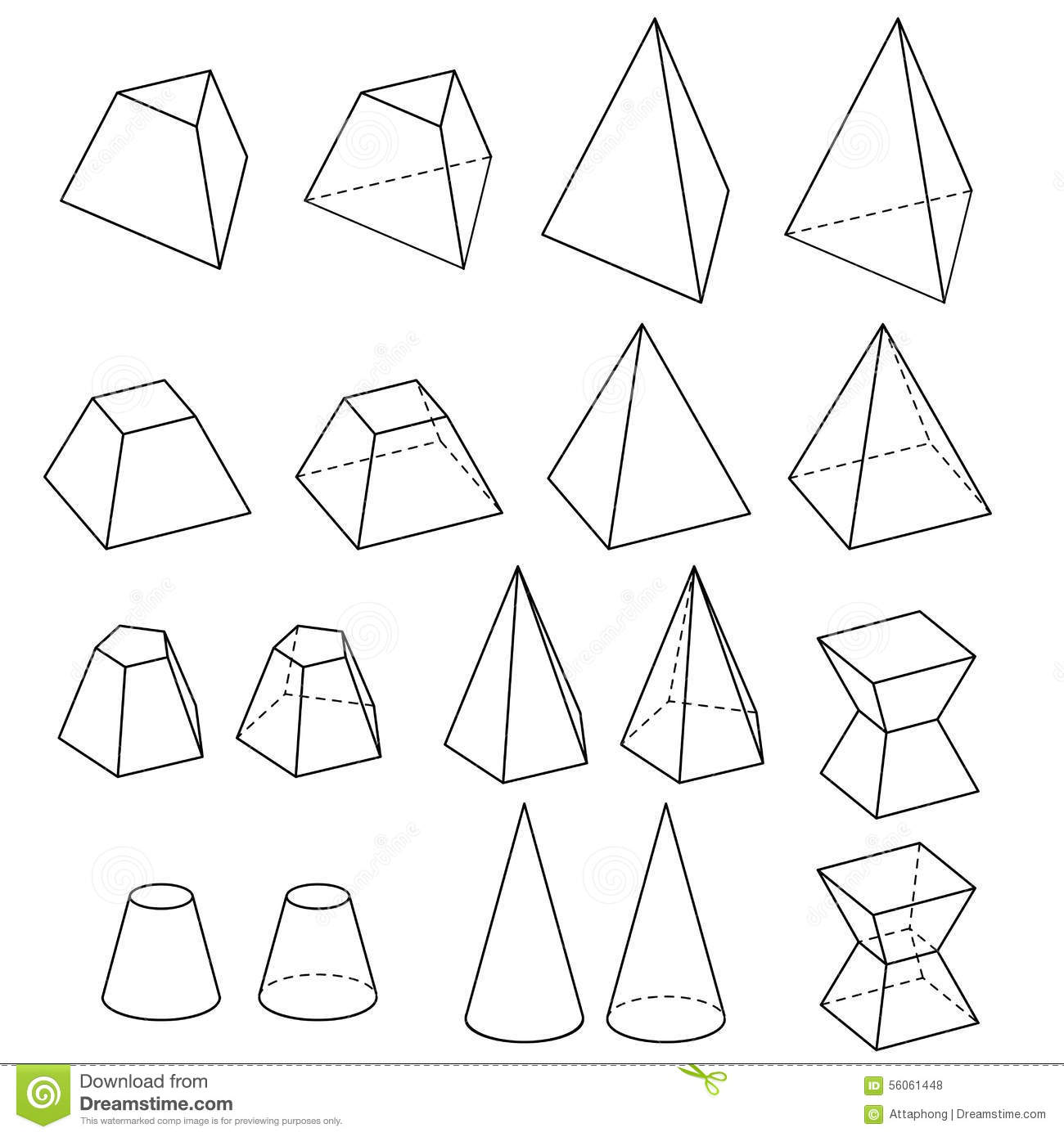 Solid geometry vector stock vector. Illustration of line