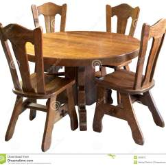 Wooden Chairs Images Chair And A Half Rocker Canada Solid Wood Kitchen Table Set Isolated Stock Image