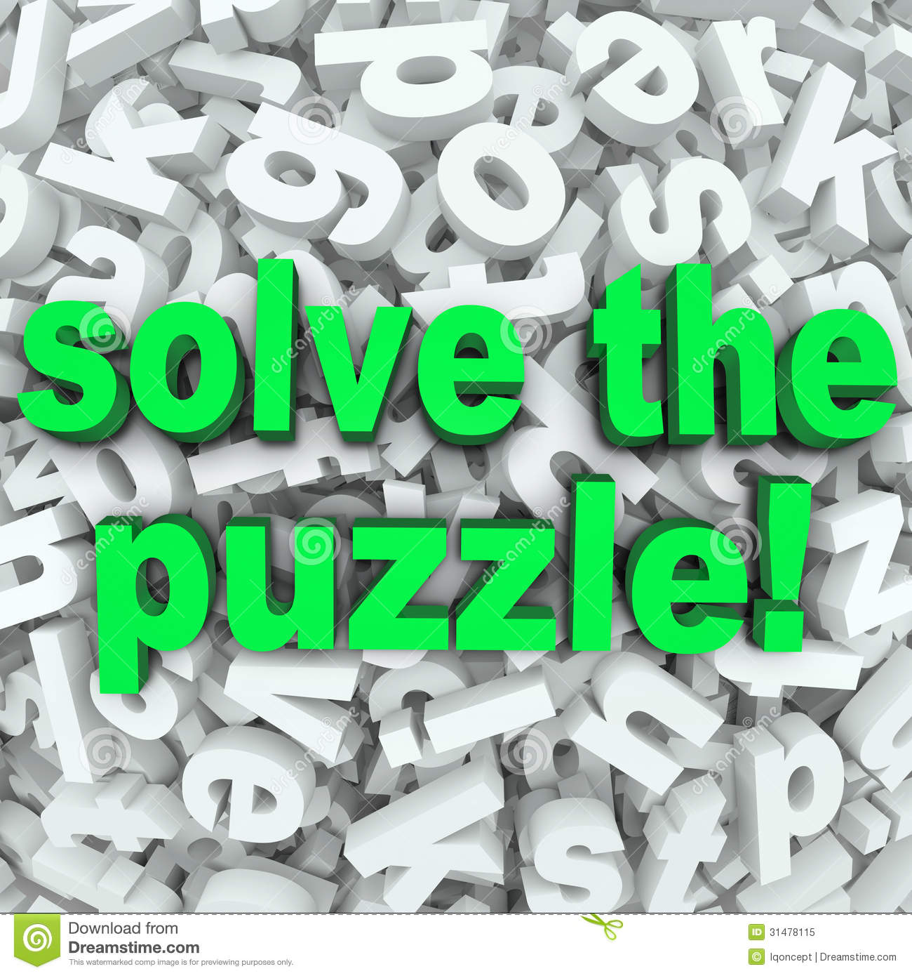 Solve The Puzzle Word Search Jumble Difficult Letter Challenge Royalty Free Stock Photo
