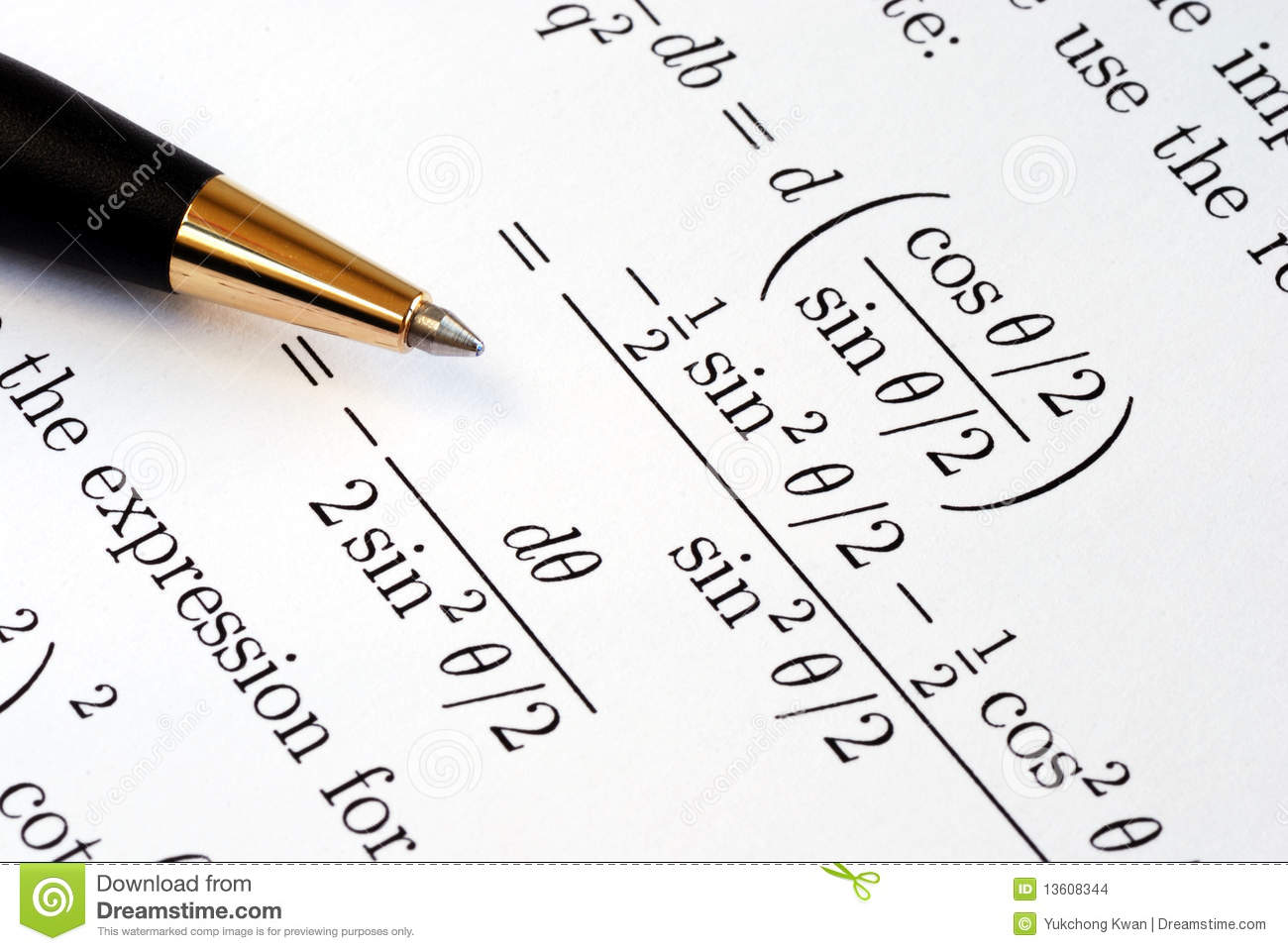 Solve Some Complicated Mathematics Questions Stock Photo
