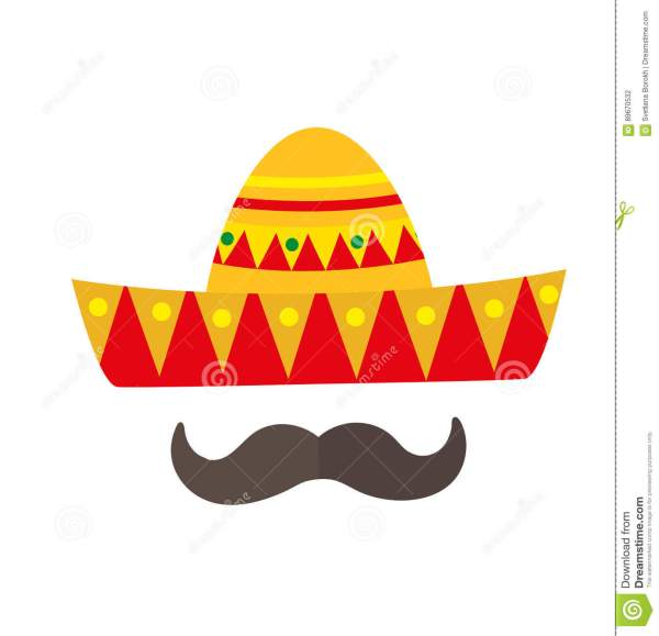 Straw Mexican Sombrero White Background Royalty-free
