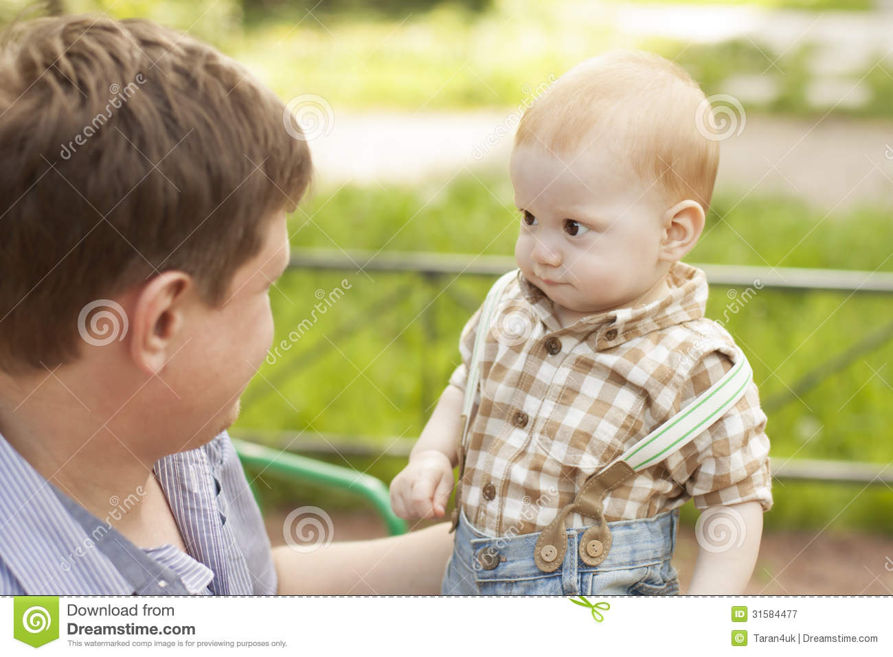 Son And Father Communication Royalty Free Stock