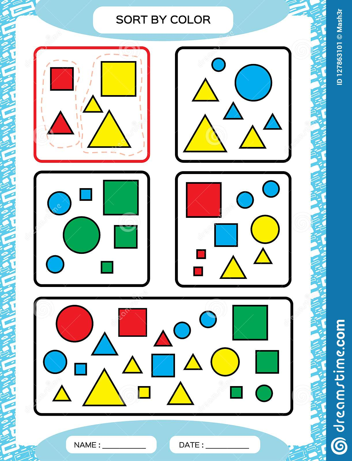 Yellow Worksheet Preschool