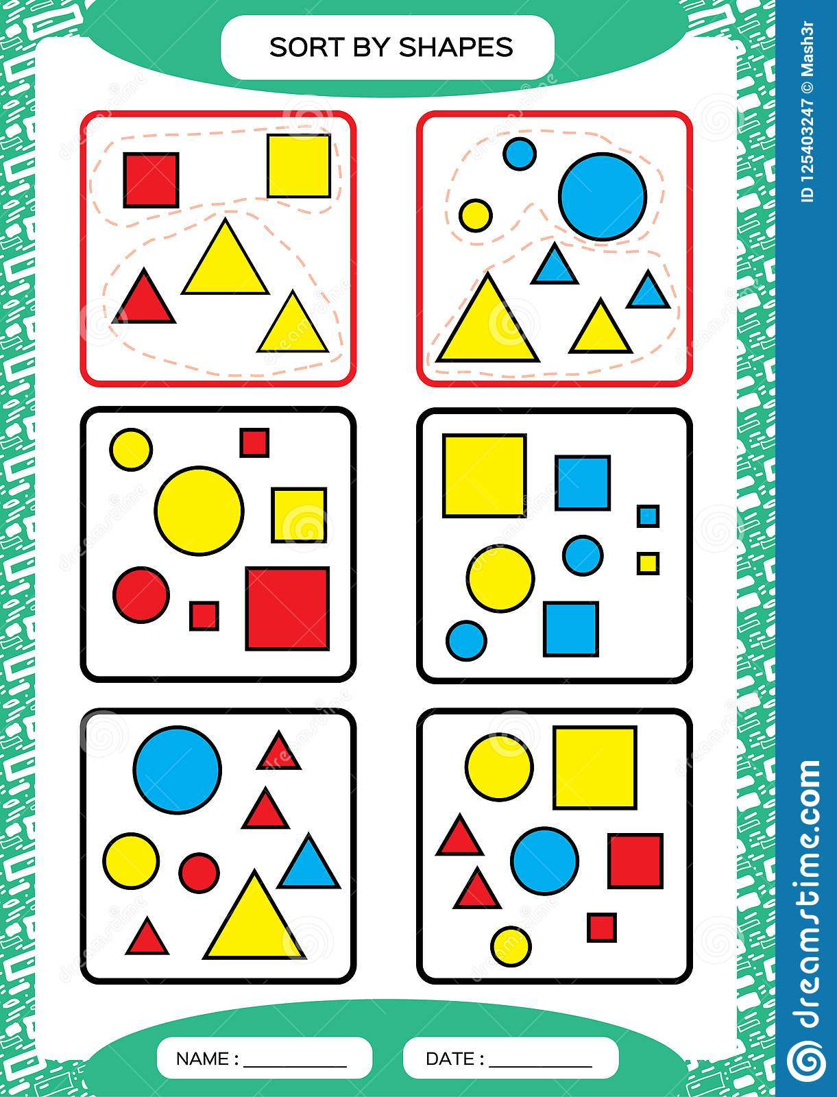 Sort By Shapes Sorting Game Group By Shapes