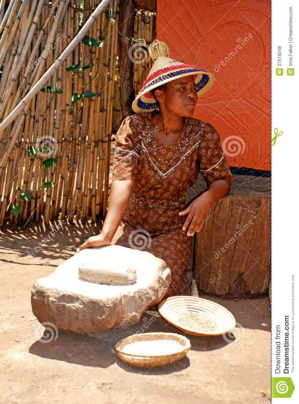 Sotho Woman Cooking Maize Meal Editorial Stock - Of Dishes Indigenous 27618248