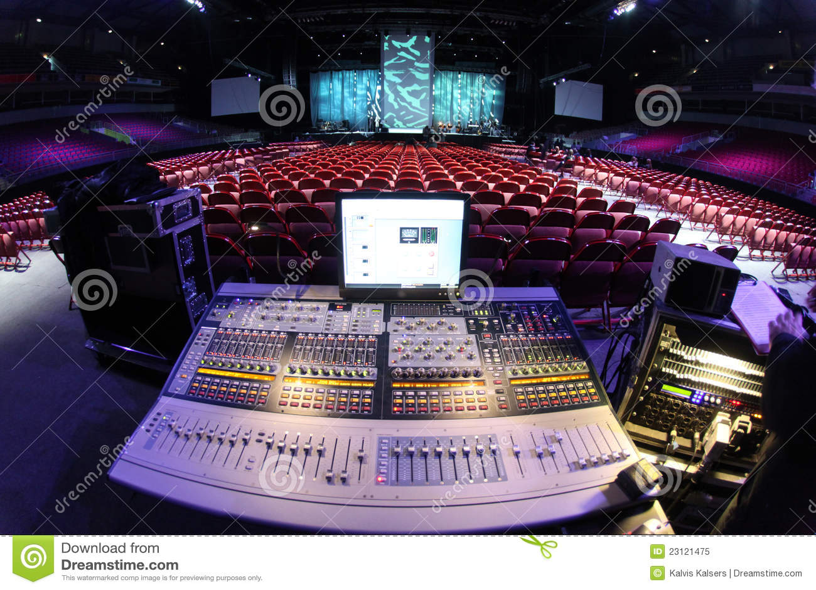 Sound system in concert stock illustration Image of