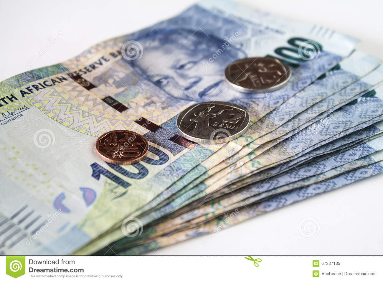 South African Currency Stock Image Image Of Finance