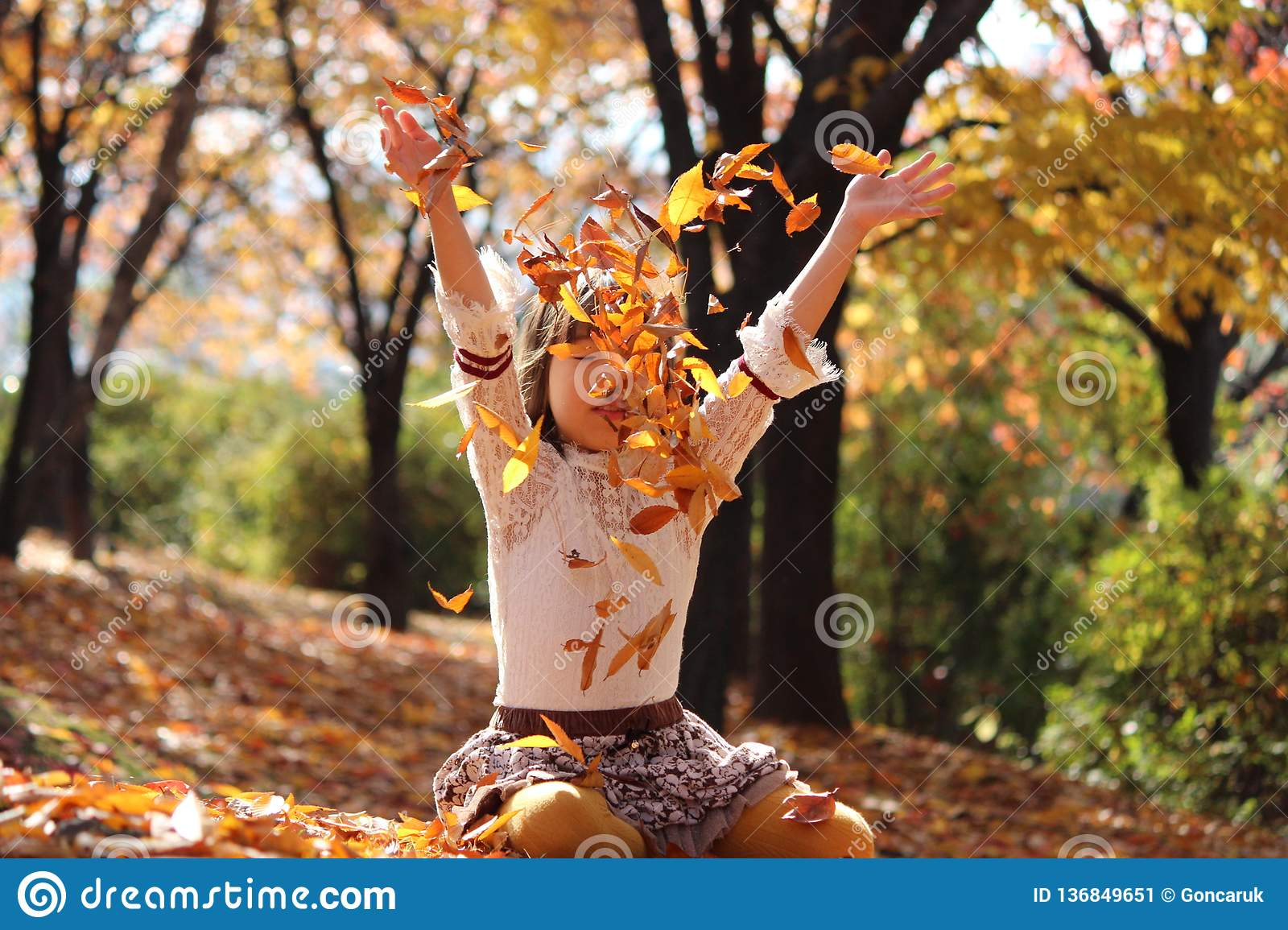 Kids Vacation Autumn In Korea Stock Image Image Of Laugh Weather 136849651