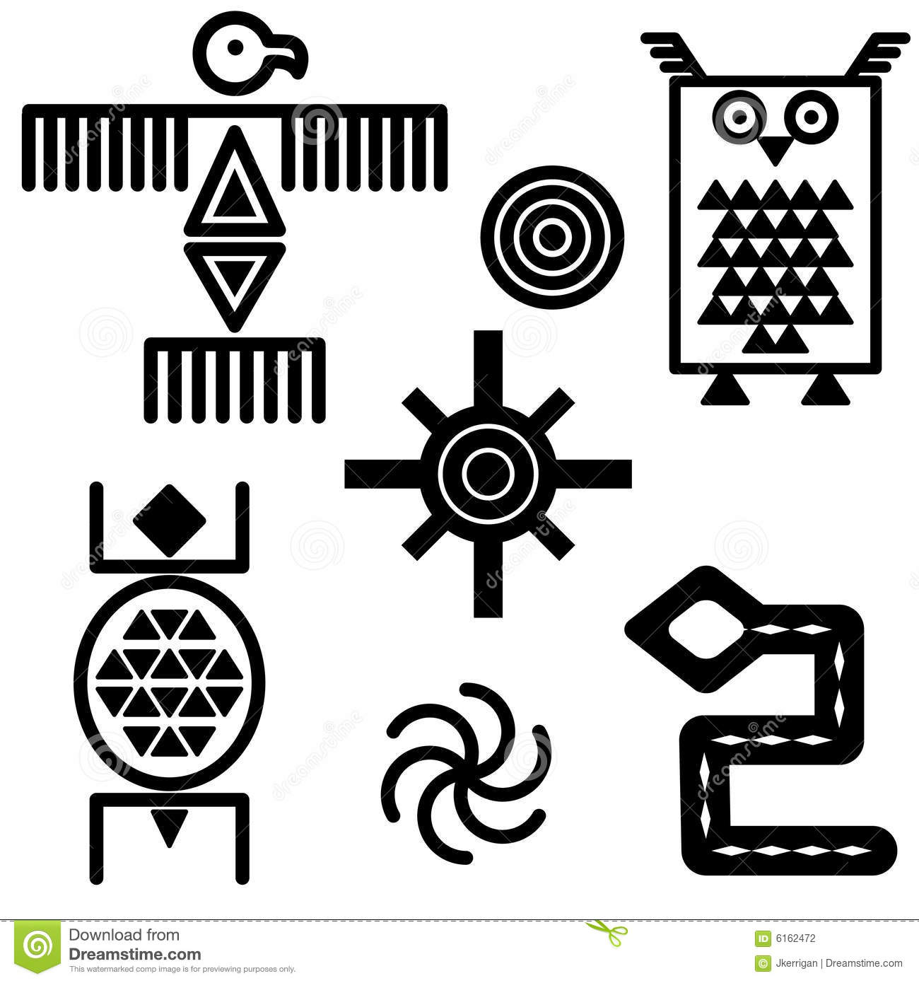 Southwestern Icons Stock Vector Illustration Of