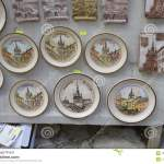 Souvenirs Watches Hand Painted Ceramic Plates With Medieval Fortress Editorial Photo Image Of Paintings Details 122838331